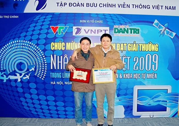 Các tác giả nhận giải thưởng Nhân tài Đất Việt 2009