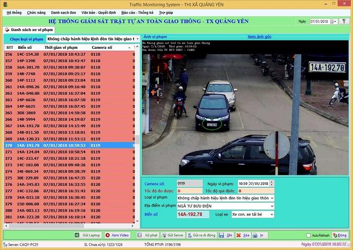 Tiếp tục triển khai thành công hệ thống giám sát trật tự an toàn giao thông tại Thị xã Quảng Yên